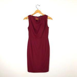 Elie Tahari Red Wool Sheath Dress    Size: 0